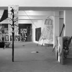 Ralph Kull, Bert Haffke, Viktoria Diehn, Daniel Nagel, Ausstellungsansicht GAK, Bremen, 1983